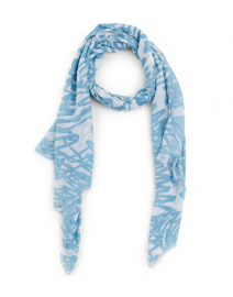 Light Blue Abstract Modal and Silk Scarf