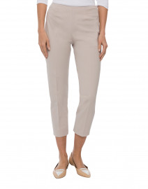Piazza Sempione - Audrey Pale Beige Stretch Cotton Capri Pant