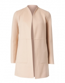Marlow Beige and Pale Pink Reversible Wool Cashmere Long Jacket