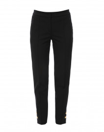 Tuskona Black Slim Pant with Gold Buttons