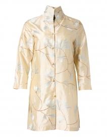 Rita White Floral Cream Embroidered Silk Jacket