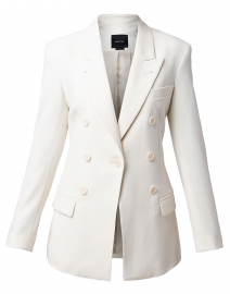 Ivory Single Button Blazer
