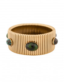 Strada Green Gold Large Bracelet