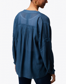 Brochu Walker - Jaxon Teal Shirred Blouse