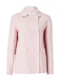 Cinzia Pink Wool Cashmere Silk Coat