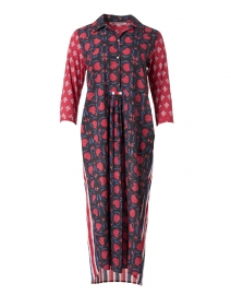 Brooklyn Blue and Red Floral Cotton Dress