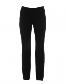 Black Ponte Knit Pull On Pants