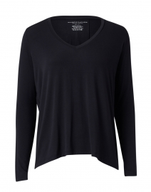 Navy Soft Touch Pleated Top