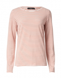 Soprano Orange and White Striped Stretch Cotton Top