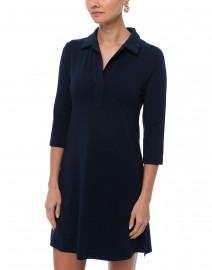 Southcott - Katherine Navy Henley Bamboo-Cotton Dress