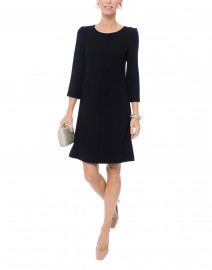 Halo Dark Navy Wool Crepe Tunic Dress