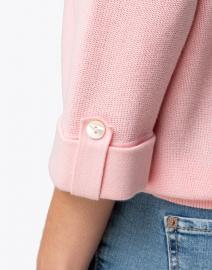 Belford - Sugar Pink Cotton Tab Sleeve Sweater