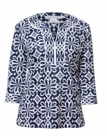 Piazza Navy Printed Tunic