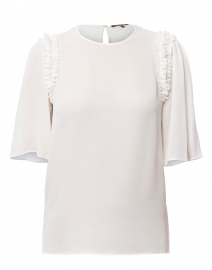 Coleen Ivory Silk Blouse