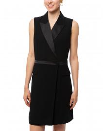 Ecru - Swanson Black Sleeveless Tuxedo Dress