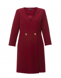 Rosy Bordeaux Gabardine Dress
