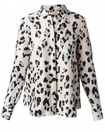Scottie Leopard Print Silk Shirt