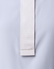 Peserico - Pale Blue Stretch Silk Blouse