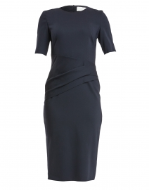 Deniba Midnight Blue Stretch Wool Dress