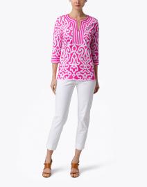 Gretchen Scott - Bright Pink Mosaic Printed Tunic