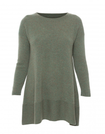 Saint Tropez Green Cashmere Swing Sweater