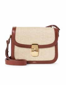 Grace Cognac Canvas and Leather Crossbody Bag
