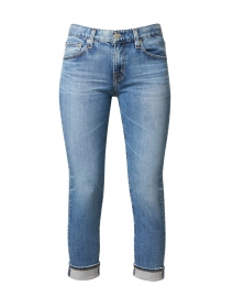Relaxed Fit Slim Blue Cropped Jean