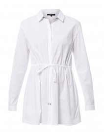 Lisa White Stretch Cotton Button Down Shirt
