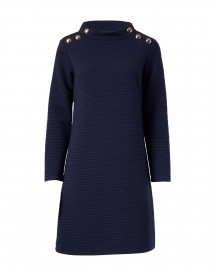 Navy Textured Knit Dress