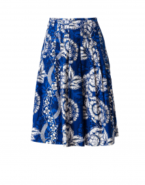 Zelda Cobalt Blue Printed Cotton Skirt