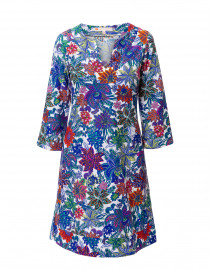 Megan White Botanic Floral Stretch Dress