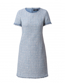 Ranch Light Blue Tweed Fringe Dress