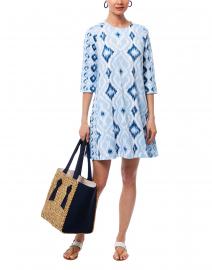 Gretchen Scott - Blue Ikat Print Swing Dress