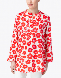 Weill - Octavia Red and White Floral Print Tunic