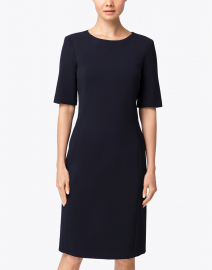 Peserico - Dark Navy Ponte Dress