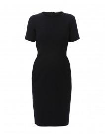 Raphael Black Tech Stretch Sheath Dress