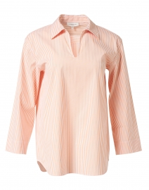 Pelham Orange and White Stripe Stretch Cotton Shirt