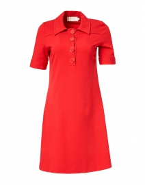 Lula Raspberry Jersey Polo Dress