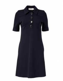 Lula Navy Jersey Henley Dress