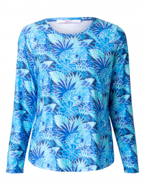 Blue Palm Printed Jersey Tee