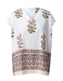 Anaji Ivory Flower Palace Floral Print Top
