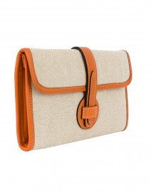 Modus Rio - Adrian Orange Linen and Leather Clutch