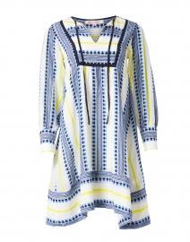 Moira Navy and Yellow Woven Cotton Dress