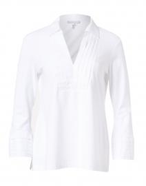 Tiffany White Knit Cotton Polo