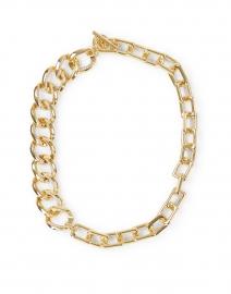 Tortona Gold Asymmetrical Chain Link Necklace