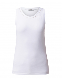 Peserico - White Top with Embellished Neckline