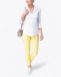 Southcott - White Henley Bamboo-Cotton Top