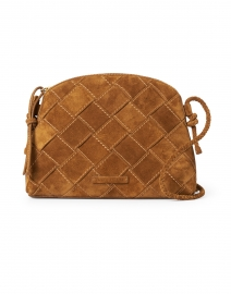 Mallory Cacao Woven Suede Leather Crossbody Bag