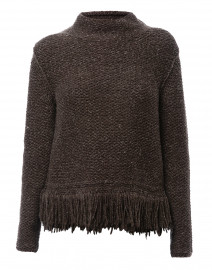 Brown Wool Cotton Sweater