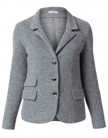 Dark Green and Grey Chevron Wool Cotton Jacket